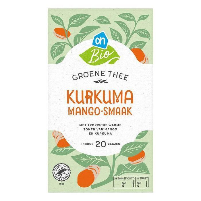 AH Biologisch Groene thee kurkuma mangosmaak