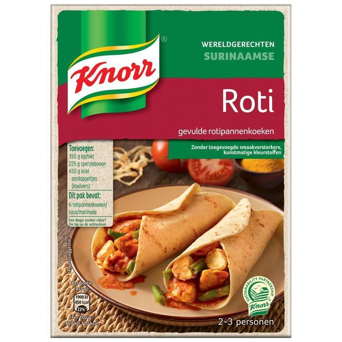 Knorr WG Surinaamse Roti 233G 6x (233g)