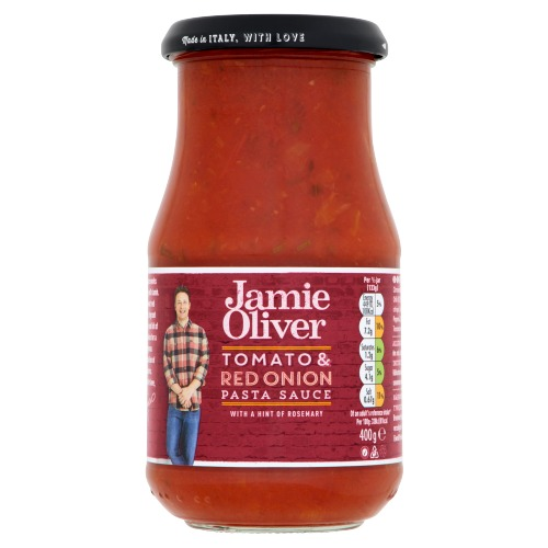 Jamie Oliver pasta sauce red onion & rosemary 400 gr. (400g)