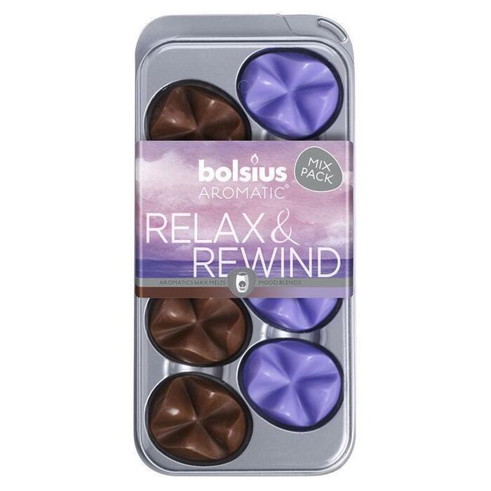 Bolsius Wax melts relax & rewind (8 × 80g)