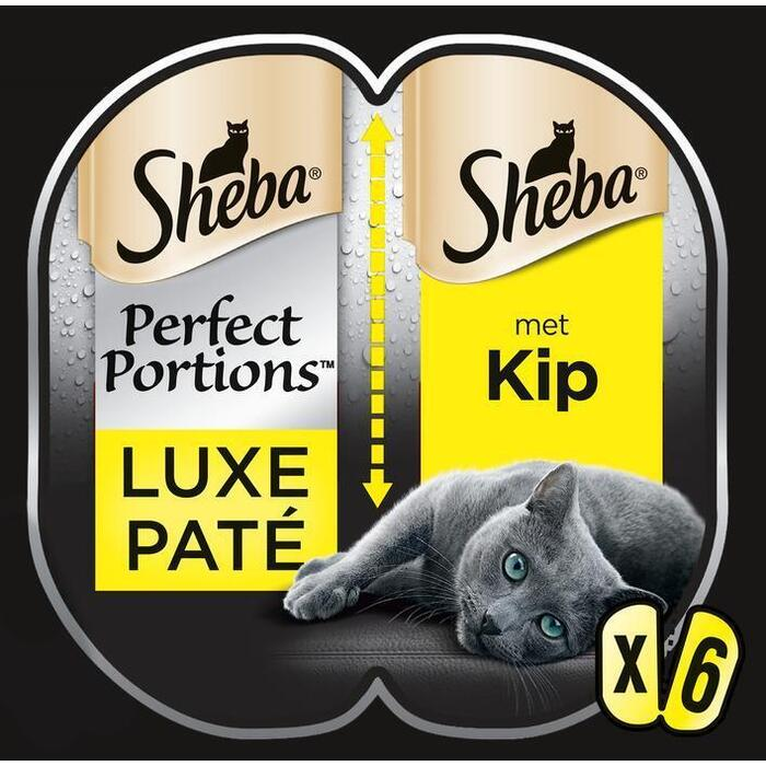 Sheba Perfect Portions Luxe Paté met Kip Duo Pack 225 g (3 × 225g)