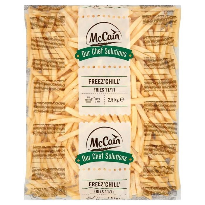 MCCAIN OUR CHEF SOLUTIONS FREEZ' CHILL' FRITES 11/11 (2.5kg)