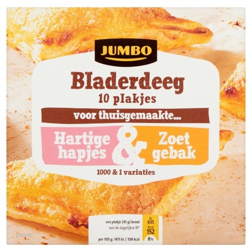 Jumbo Bladerdeeg Plakjes 10 Stuks 450g (450g)