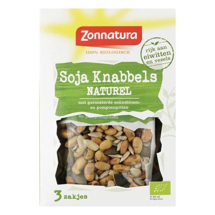Zonnatura Soja knabbels Mix Naturel 3x30 gr (90g)