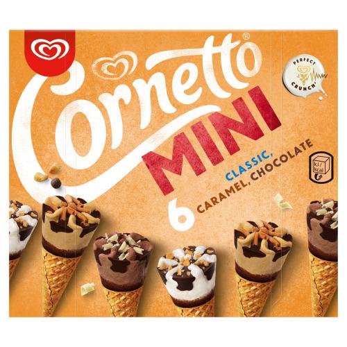 Ola ***Cornetto mini mix chocola, caramel, classic 6st (6 × 216g)