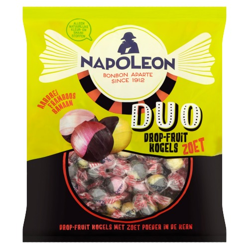 NAPOLEON DUO DROP-FRUIT KOGELS ZOET 825 GRAM (825g)