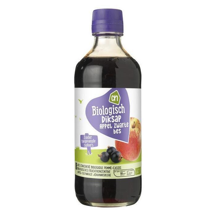 AH Biologisch Diksap appel-zwarte bes (40cl)