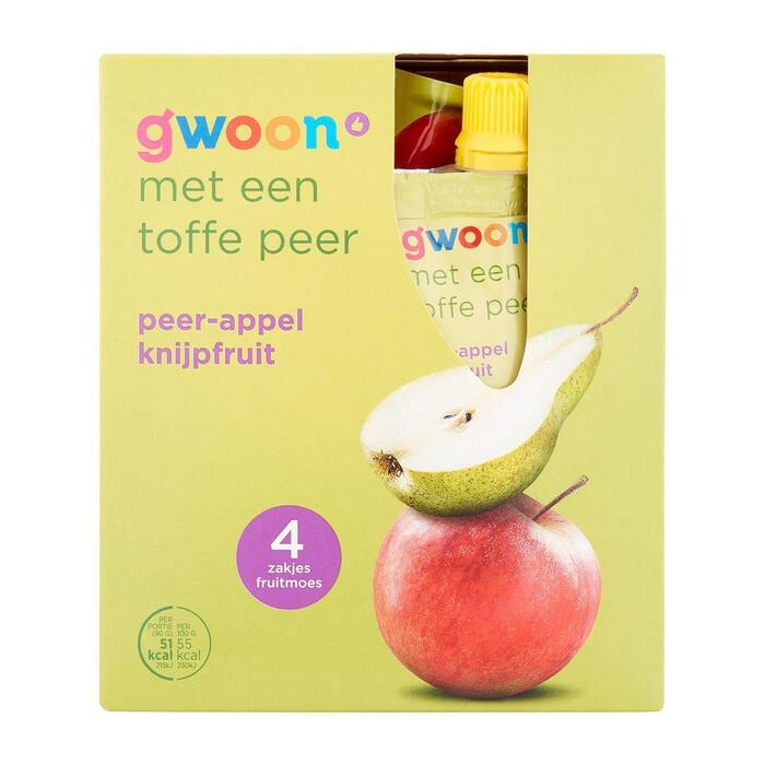 g'woon Knijpfruit appel-Peer (360g)