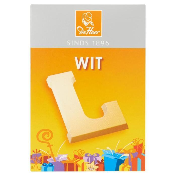 De Heer Letters Wit (65g)