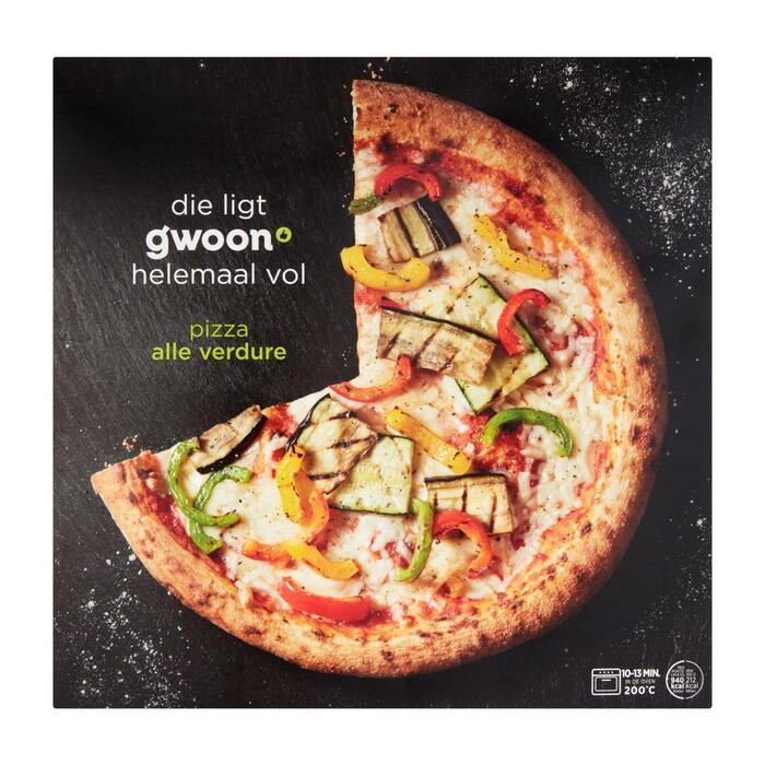 g'woon Premium pizza alle verdure (444g)