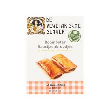 Vegetarische Slager Roomboter saucijzenbroodjes soja (164g)
