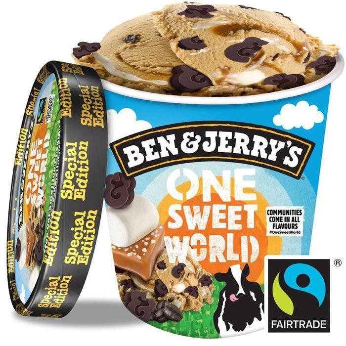 Ben & Jerry's IJs One Sweet World 500 ml (Stuk, 0.5L)