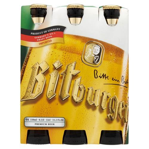 Bitburger Pilsener (glazen fles, 33cl)