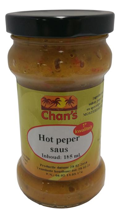 Chan's Hot pepper saus (185ml)