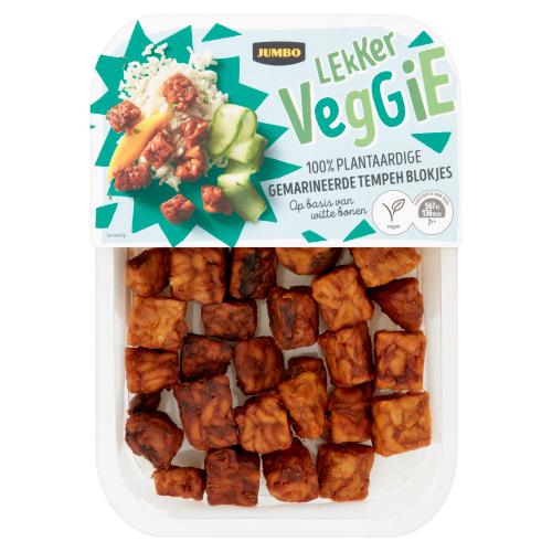Jumbo Lekker Veggie 100% Plantaardige Gemarineerde Tempehblokjes 170 g (170g)