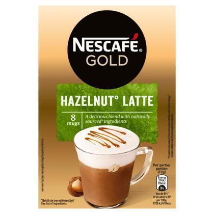 Latte Hazelnut (doos, 8 zakjes) (Stuk, 8 × 136g)