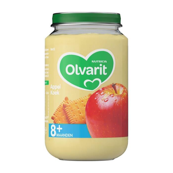Olvarit Appel en koek 8+ maanden (200g)