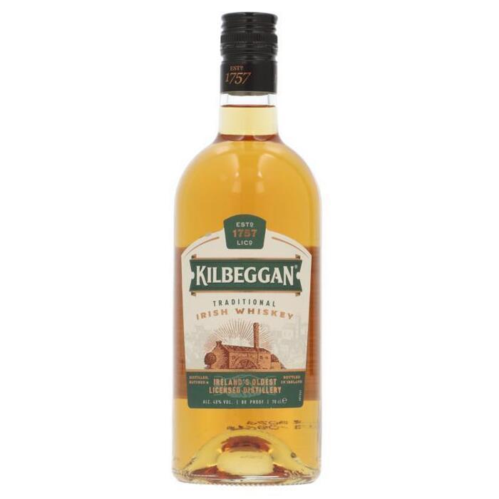 Kilbeggan Single grain Irish whiskey (rol, 0.7L)