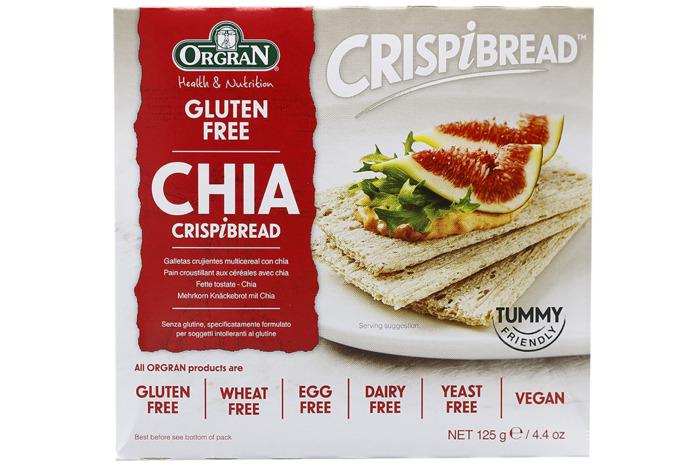 Orgran Multigrain crispy bread with chia (125g)