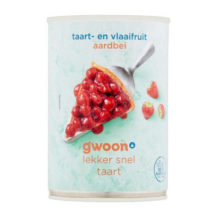 g'woon Vlaaifruit aardbeien (430g)