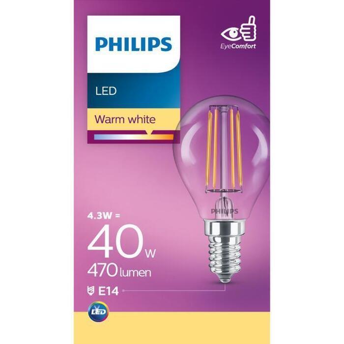 Philips Fil kogel E14 40W