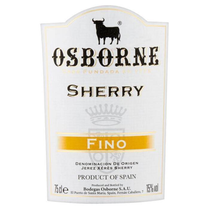 Sherry fino pale dry (rol, 75 × 0.75L)