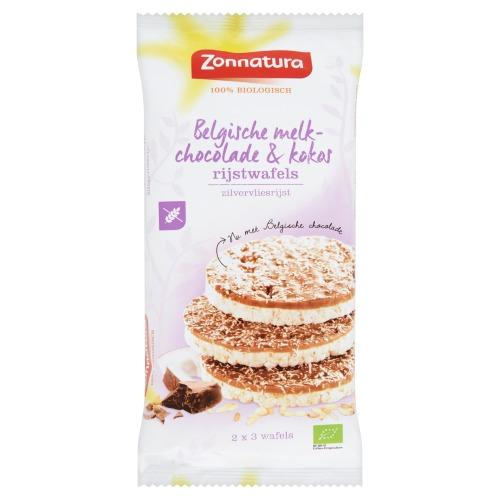 Zonnatura Rijst wafel choco kokos (100 × 100g)