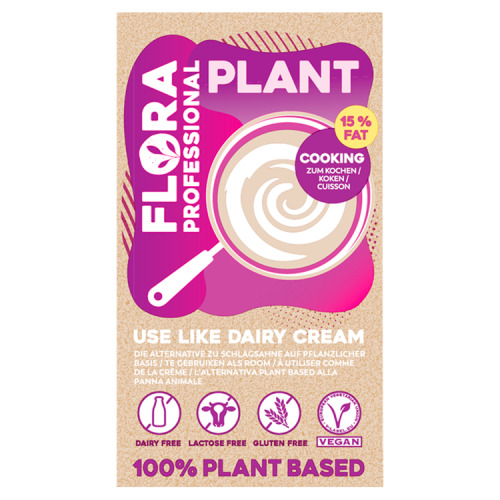 Flora Professional Plant Koken Plantaardig Alternatief voor Slagroom 15% Vet 1 L (1L)