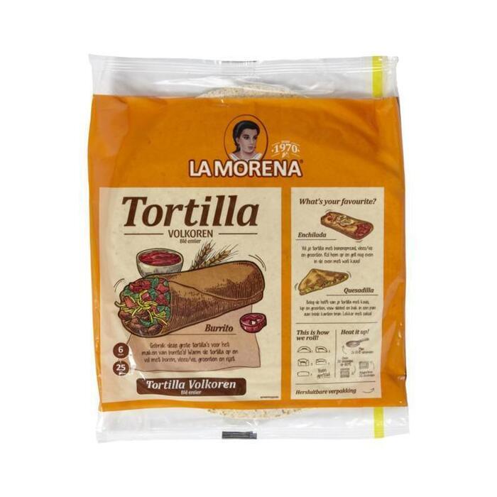 La Morena Volkoren tortilla wraps (6 × 370g)