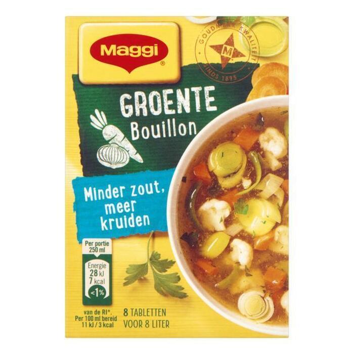 Maggi Minder zout bouillon groente (72g)