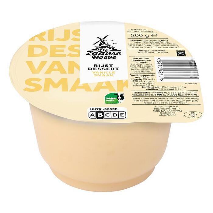 Rijstdessert vanille (bak, 200g)