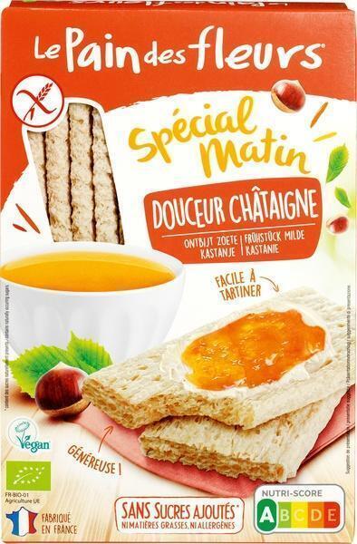 Krokante crackers zoetheid kastanje (230g)