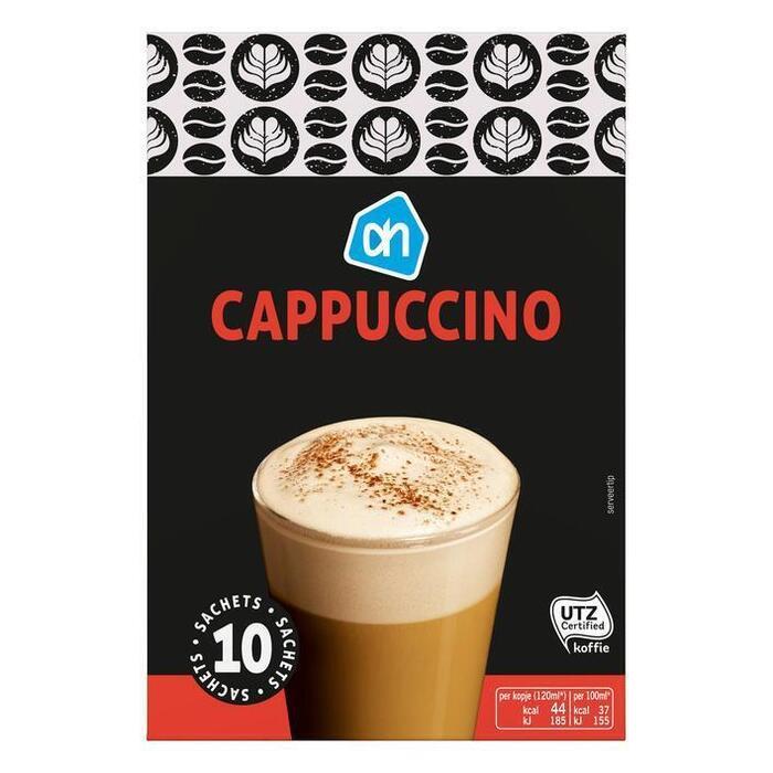 AH Cappuccino portie pak UTZ (oploskoffie, 8 st.)