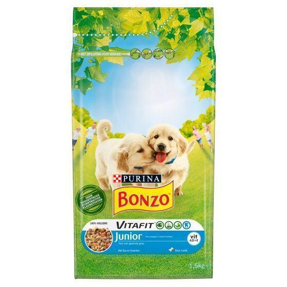 Bonzo Junior kip & groente (1.5kg)