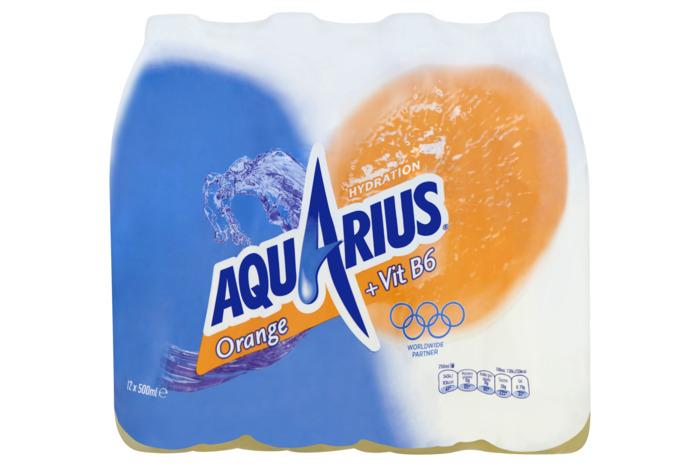 Aquarius Orange met sportdop tray (rol, 12 × 0.5L)