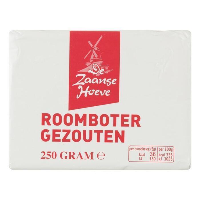 De Zaanse Hoeve Roomboter gezouten (250g)