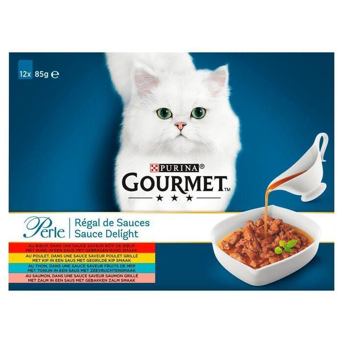 Gourmet Perle sauce delight rund,kip,tonijn,zalm (85g)