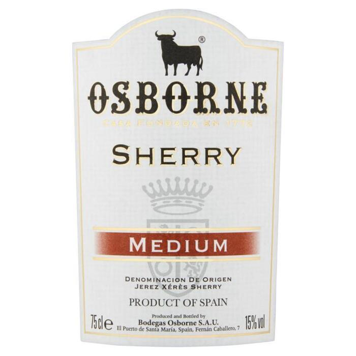 Sherry medium dry (rol, 75 × 0.75L)