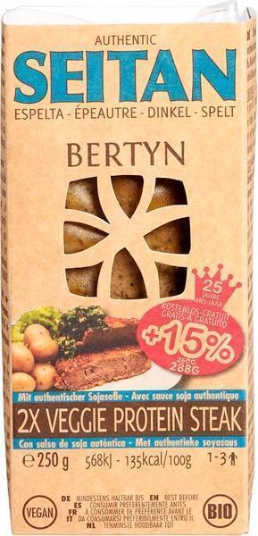 Seitan-spelt veggie steak +15% gratis (280g)