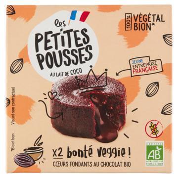 Les Petites Pousses Biologisch Chocolade Kokos Cake 2 x 80g (2 × 80g)