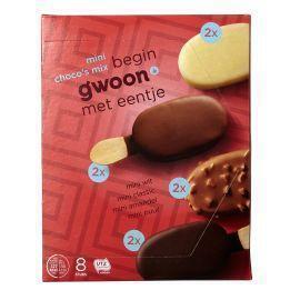 g'woon Mini Choco´s Puur Wit Amandel Melk 8 x 50 ml (8 × 50ml)