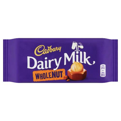 Cadbury Dairy Milk Wholenut 120 g (120g)