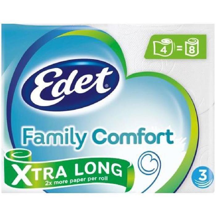 Edet Comfort X-tra long 3-laags toiletpapier (rollen)