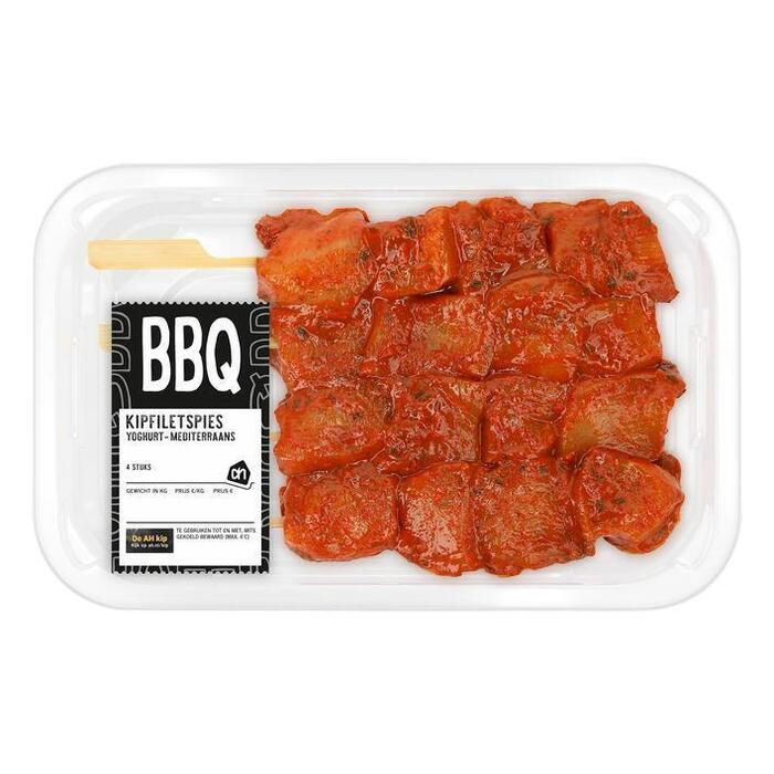 AH BBQ kipfiletspies yoghurt-mediterraans (255g)