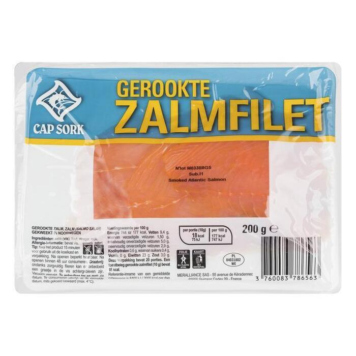 Cap Sork Gerookte zalmfilet (200g)