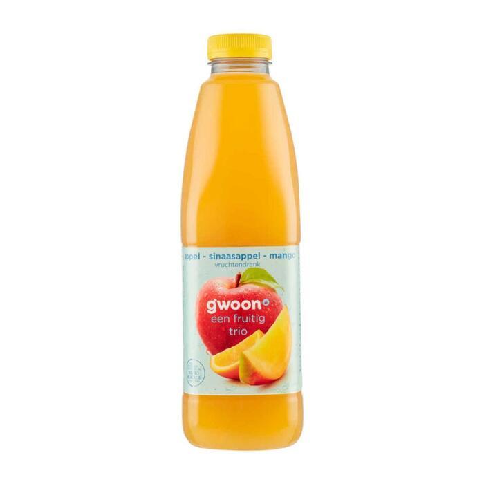 g'woon Vruchtendrank appel, sinaasappel en mango (1L)