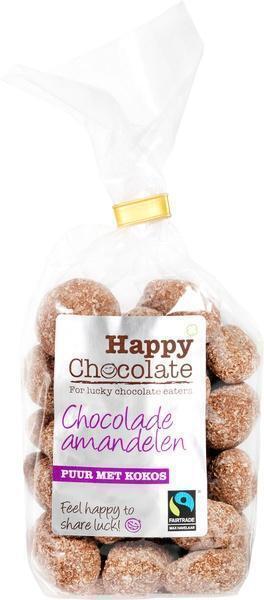 Chocolade amandel puur met kokos (175g)