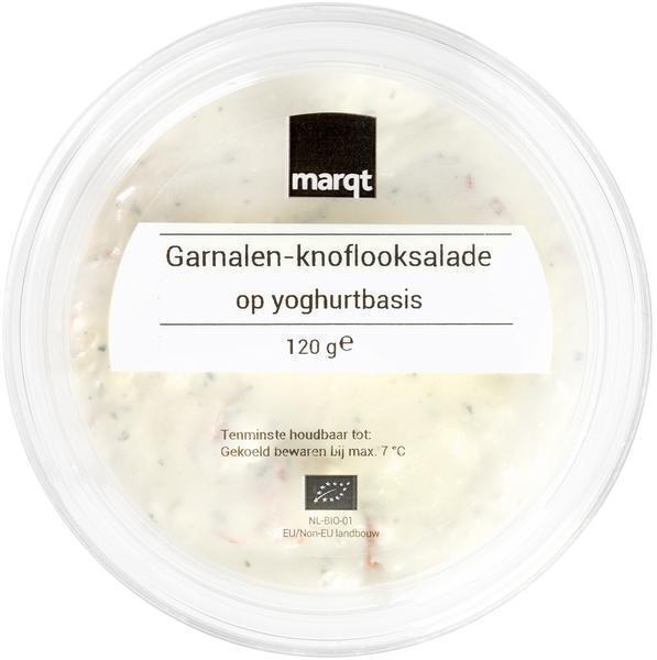 Garnalen-knoflooksalade op yoghurtbasis (120g)