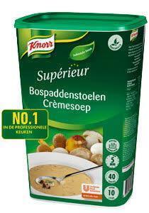 Knorr Supérieur Bospaddestoelen Crèmesoep (fles, 6 × 1kg)