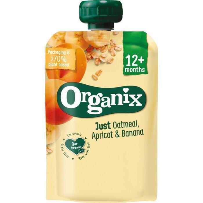 Organix Just oatmeal abrikoos en banaan (100g)